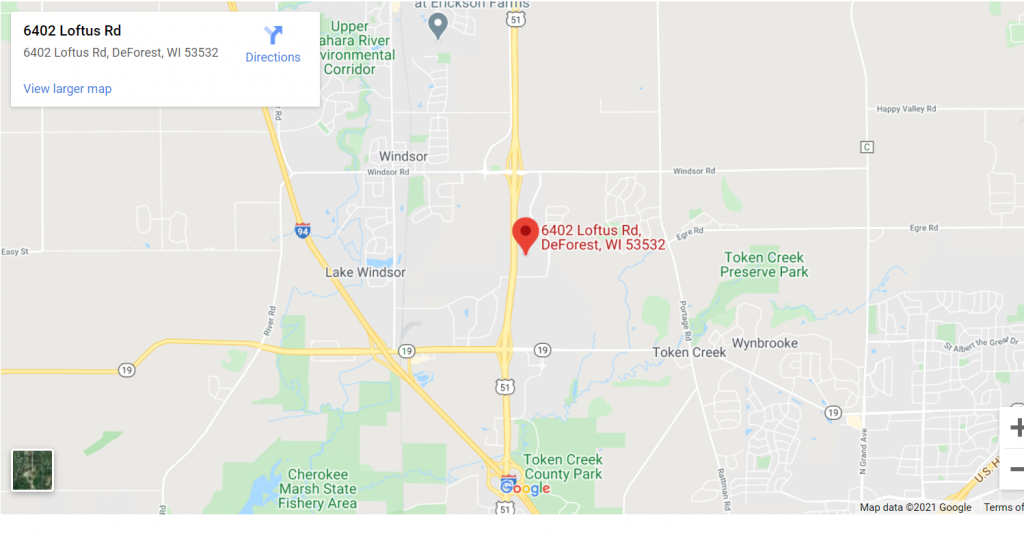 Retail Location #2 – Tree Holding Yard In the Circle B Complex 6402 Loftus Rd. Deforest, WI 53532