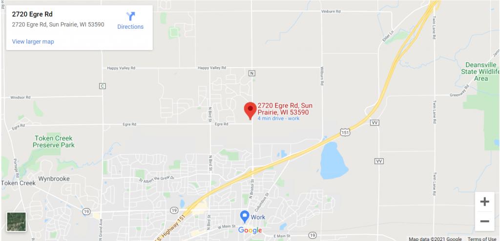 Retail Location #1 Tree Holding Yard. 2720 Egre Rd. Sun Prairie, WI 53590